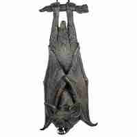 20inch Rocking Bat Halloween Hanging Prop with Glowing Eyes & Sound