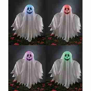 Halloween Decoration Ghost Grave Ground Breaker Light Up Color Changing Prop