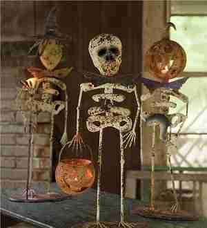 Metal Standing Halloween Creatures, Set of 3