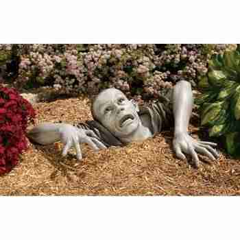 The Zombie of Montclaire Moors Garden Statue