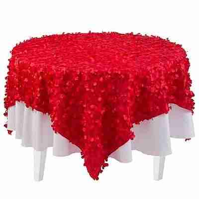 Red Petal Fabric Overlay
