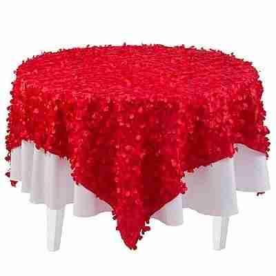 Red Petal Fabric Overlay