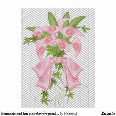 Romantic and fun pink flowers petal pushers tablecloth