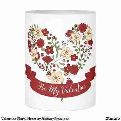 Valentine Floral Heart Flameless Candle