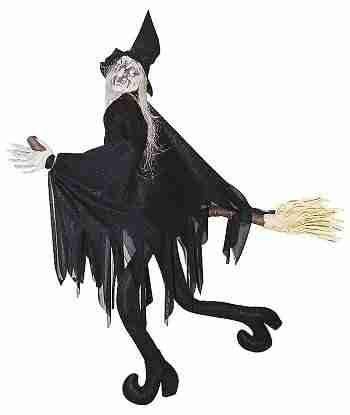 2 Ft Witch on Broom Animtronics
