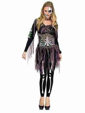 3D Skeleton Adult Costume