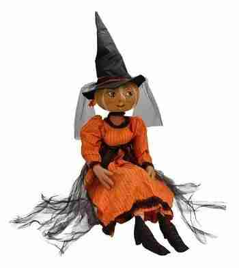 40 inch Pumpkin Witch Decorative Halloween Figure