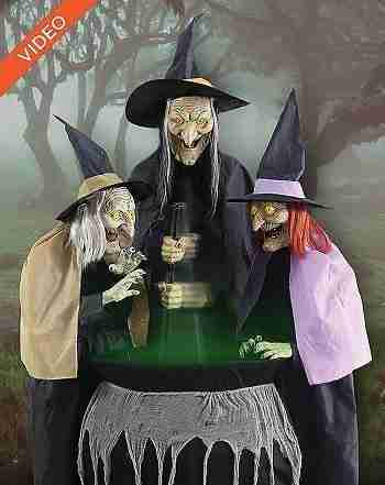 5 Ft Stitch Witch Sisters Animatronics