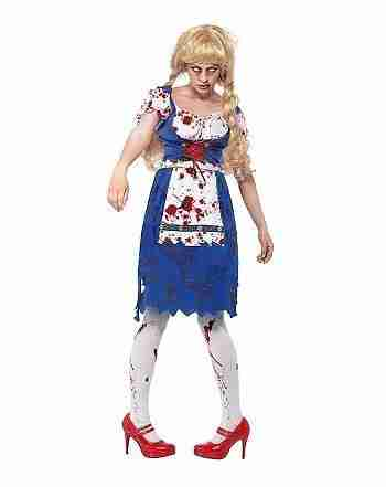 Adult Zombie Barvarian Girl Costume