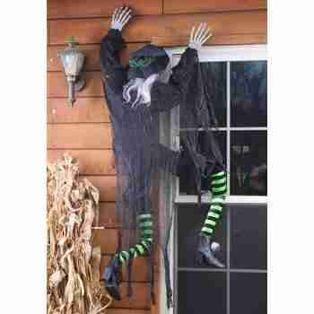 5 ft Climbing Witch Halloween Decor