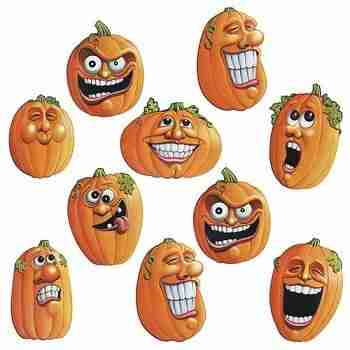 Club Pack of 240 Mini Wacky Jack-O-Lantern Halloween Cutout Decorations 4.inch