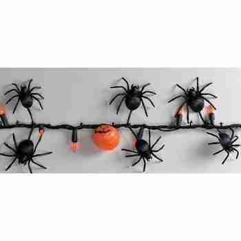 Halloween Spider and Pumpkin Lights