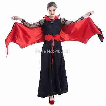 Halloween-Woman-Red-black-Vampire-Queen-Costume-Dress-Adult-Women-Dress-Up-Roll-Play-Cosplay-Costume