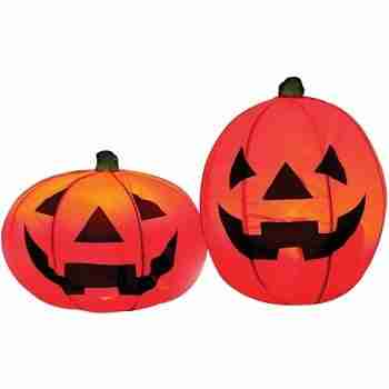 Light-up Pumpkin Set of 2 Halloween Decoration