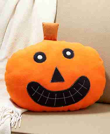 Halloween Pumpkin Face Pillow