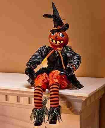 Pumpkin Figure Haunting Halloween Decor