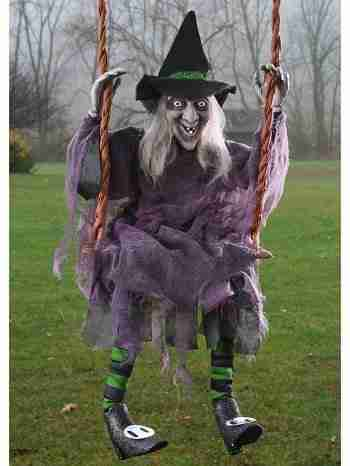swinging witch prop 36 inch tall