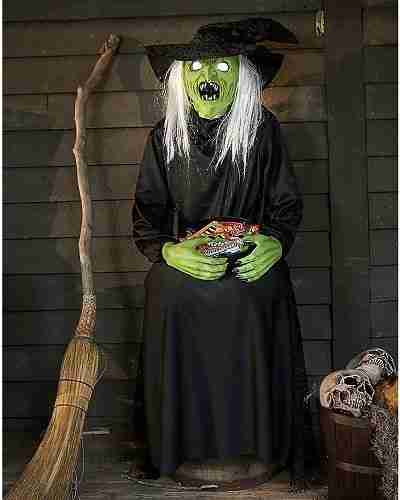 4.5 Ft Sitting Scare Witch Animatronics