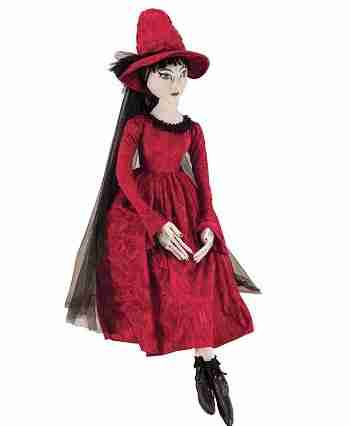 43 inch Gathered Traditions Cassandra Witch Decorative Halloween Figure