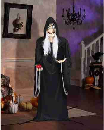 5 Ft Snow White Old Wicked Witch Animatronics