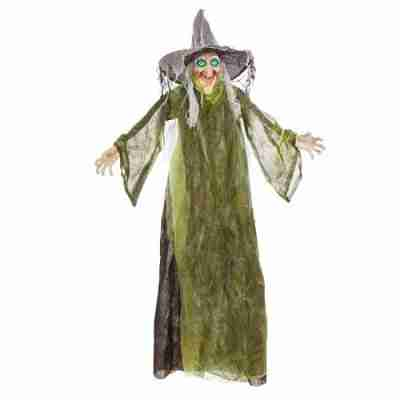 5 Ft Standing LED Halloween Witch