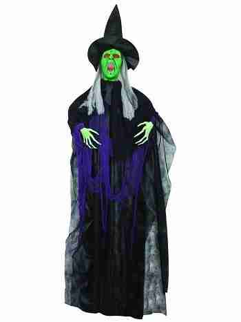 6-Foot Hanging Witch with Sounds And Lights