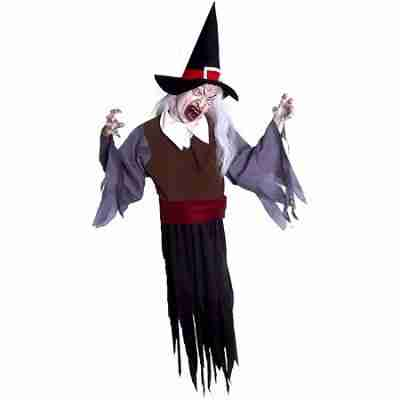 Animated Swinger 5 Foot Hanging Witch