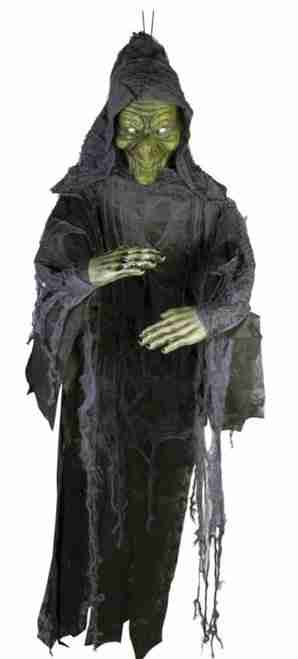 4 Ft tall hanging witch prop with posable arms