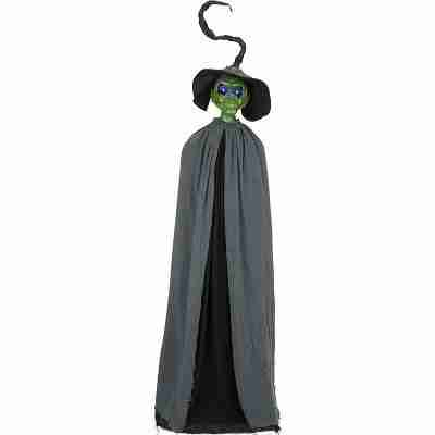 6' Tall Green Skin Halloween Witch with Light Up Eyes