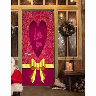Hearts 3D Door Wall Sticker