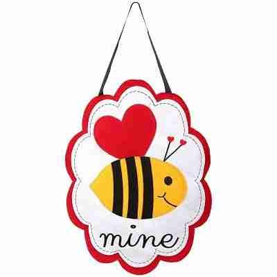 Valentine's Bee Mine Felt Door Hanger