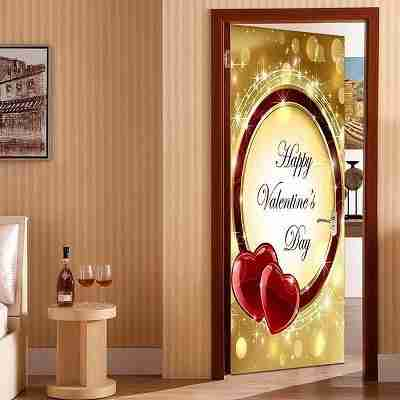 Valentine's Day Heart Ring Door Art Stickers