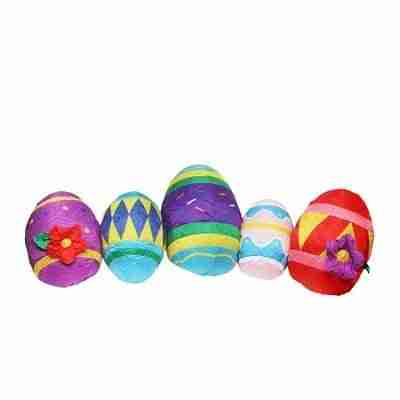 10 ft Inflatable Lighted Easter Eggs Yard Art Decoration