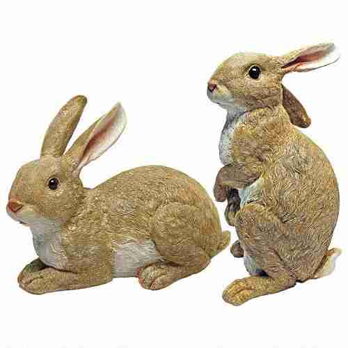 Bashful and Hopper Garden Bunnies Collection Set of Two