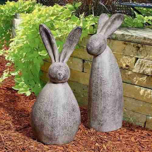 Big Burly Bunnies Rabbit Statues