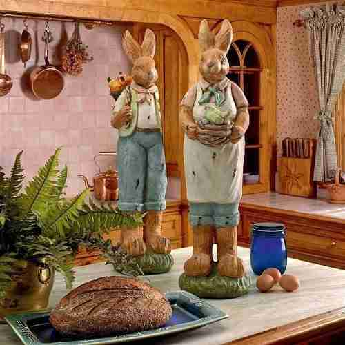 Elmer and Edwina Easter Bunny Holiday Decorations