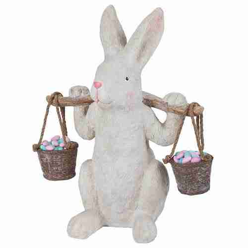 Ezekiel Rabbit, the Yokes on Him Easter Bunny Statue