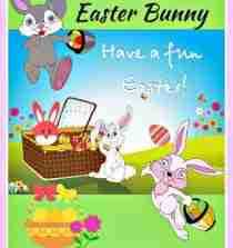 Large Inflatable Easter Bunny Outdoor Decorations