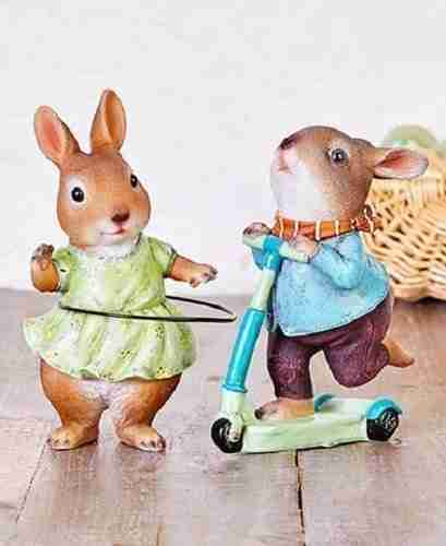 Playful Bunny Figurines