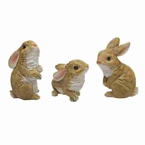 The Bunny Den, Garden Rabbit Statues
