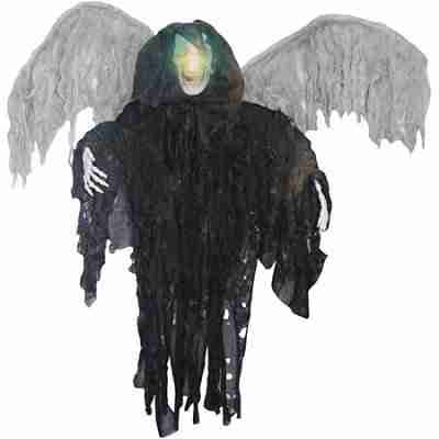 4 ft Tall Lighted Winged Grim Reaper