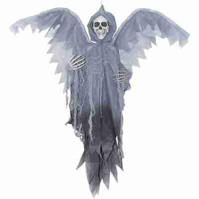 Grey Winged Reaper 3 Ft Halloween Decoration