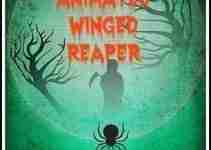 Hanging Animated Winged Reaper Halloween Prop