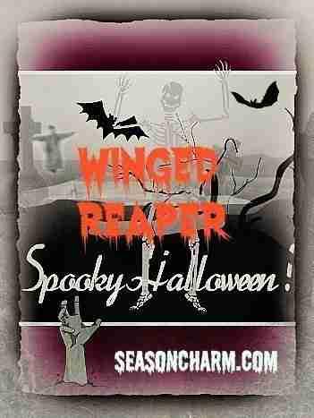 Spooky Halloween Winged Reaper