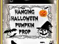 Hanging Halloween Pumpkin Man Prop