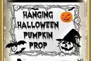 Hanging Halloween Pumpkin Man Prop