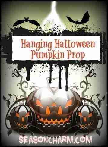 Hanging Halloween Pumpkin Props