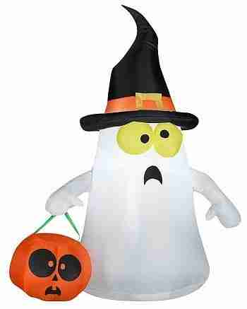 3.5 ft Ghost with Witch Hat Inflatable