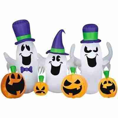Ghosts and Jacks Lighted Halloween Inflatable