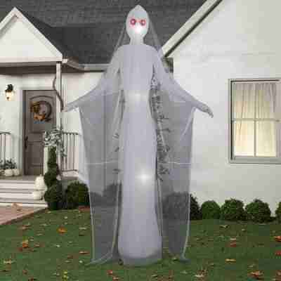 Halloween Airblown Inflatable 12 ft. Ghostly Female